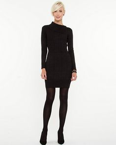Split Collar Knit Tunic - Slip into a split collar knit tunic for a sophisticated day look.