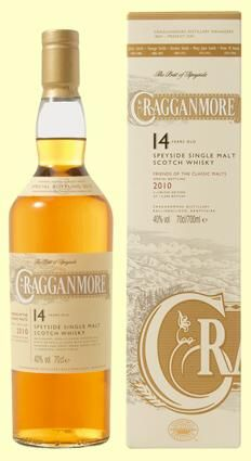 Cragganmore 14 yrs, 75/100pts//JL Nose: 20 Taste: 19 Finish: 18 Balance: 18