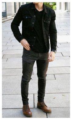 Stylish Mens Outfits, Fall Fashion Outfits, Casual Outfits, Men Casual, Men's Fashion, Mens Casual Boots, Mens Winter Boots Fashion, Mens Boots Style, Urban Fashion