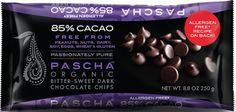 PASCHA: Organic Bitter-Sweet Dark Chocolate Chips, 8.75 oz