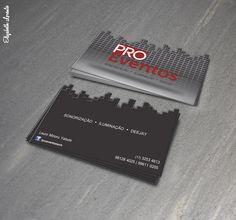 Cartão de visitas, desenvolvido para empresas de eventos sociais.