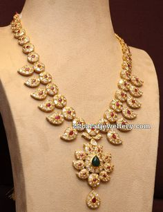 Pachi work Mango Necklace in Light Weight