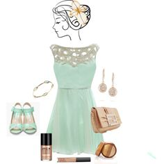 """""""Mint and Gold"""" by allisonbf on Polyvore"""