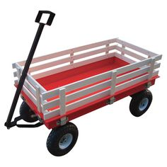 Northern Industrial Garden Wagon with Rails — 46 3/8in.L x 23in.W, 1200-Lb. Capacity
