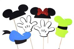 Disney Photo Booth Props - Mickey, Minnie, Goofy, Donald Duck Inspired Photo Booth Props - Set of 6 on Etsy, $25.00