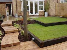wooden garden sleepers patio design ideas garden landscape ideas