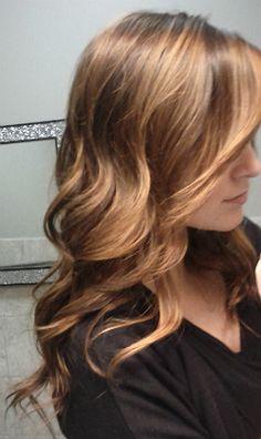 waves bronde brunette caramel toffee highlights lowlights color