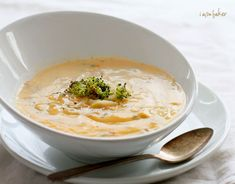 """One of my favorite soups in the whole wide world is broccoli and cheese. One of my favorite cheeses is meunster. And my very favorite way to eat broccoli is roasted. And I kid you not, I think I have come up with the most amazing soup in the world. I am not even going to google """"roasted broccoli"""