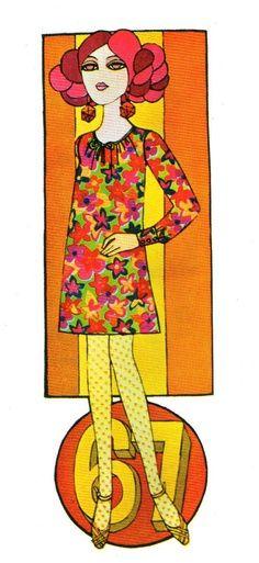 Vintage Fashion Illustrations - caroline smith Petticoat Magazine 1967