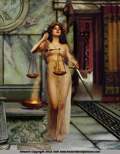 Themis, the Titan goddess of divine law, order and justice by Howard David Johnson