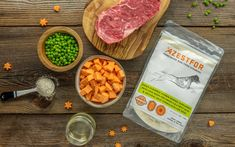 This homemade dog food is nutritionally complete and balanced. This Beef, Sweet Potato and Pea homemade dog food recipe is our most popular dog food recipe. Home Cooked Dog Food, Make Dog Food, Homemade Dog Food, How To Make Homemade, Cooking Sweet Potatoes, Sweet Potatoes For Dogs, Dog Food Recipes, Beef Recipes, Dog Vegetables