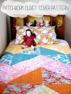 Single Bed Patchwork Quilt Patterns Google Search Duvet Cover Pattern Duvet Cover Diy Diy Duvet
