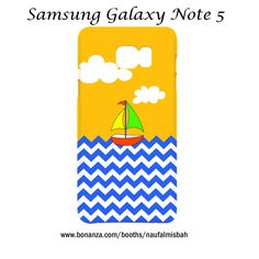 Sailboat Chevron Pattern Samsung Galaxy Note 5 Case Cover Wrap Around