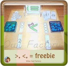 Greater Than, Less Than, Equals Activity Cards This post has a free greater than, less than, and equals printable with color and black/white printing options. Montessori Math, Montessori Education, 1st Grade Math, Grade 1, Spring Theme, Wise Owl, Task Boxes, Math Numbers, Practical Life