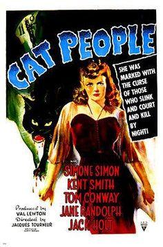 CAT PEOPLE movie poster SIMONE SIMON terror claws NIGHT ADVENTURE 24X36