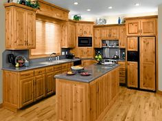 Love the natural look of these cabinets