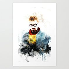 GORDON FREEMAN Art Print by cfortyone - $17.00