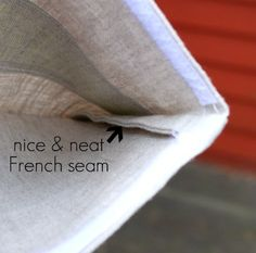 Gwenny Penny: Reusable Snack Bag with French Seams! Nice & tidy single layer bag
