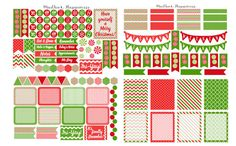 Erin Condren Planner Stickers, Christmas Planner Stickers, Life Planner Decorative Stickers, Planner Accessory Kit, ECLP December Stickers