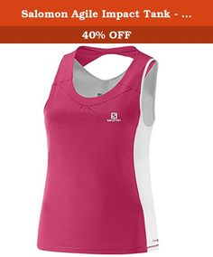 Salomon Agile Impact Tank - Women's Hot Pink / White Medium. FEATURES of the Salomon Women's Agile Impact Tank AdvancedSkin ActiveDry Jersey Melange Interlock Open back Inner bra 1 back pocket Reflective branding front and back SPECIFICATIONS of the Salomon Women's Agile Impact Tank Active fit Weight: 4.23 oz / 120 g Back: PA 55%, PES 45% Front: PES 100% Inner Bra: PA 77%, EL 23% This product can only be shipped within the United States. Please don't hate us.