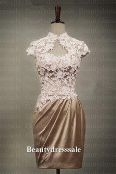 Custom Keyhole Lace Wedding Dress/Bridesmaids by Beautydresssale, $226.00