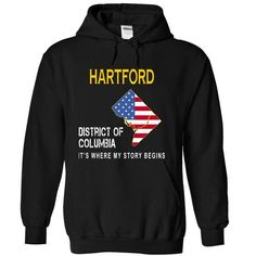 Awesome Tee HARTFORD - Its Where My Story Begins T shirts