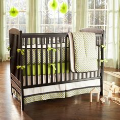jace bedding! Nursery will be black, this steel gray, and lime green!