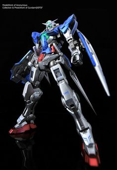 MG Exia Gundam - Metallic Color Painted Build Gundam Exia, Gundam 00, Gunpla Custom, Custom Gundam, Cool Robots, Frame Arms, Mecha Anime, Photo Work, Suit Of Armor