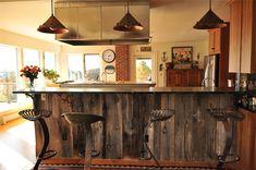 barn board bar - Google Search