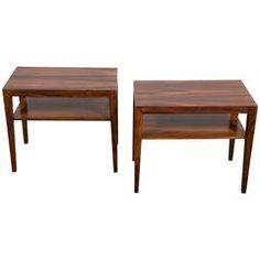 Pair of Severin Hansen Rosewood Tables, Denmark