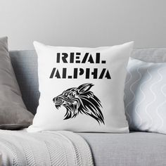 'Real Alpha - pack leader' Throw Pillow by RIVEofficial Alpha Pack, Pin Pin, Designer Throw Pillows, Pillow Design, Custom Design, Cool Stuff, Amazon, Unique, Ebay