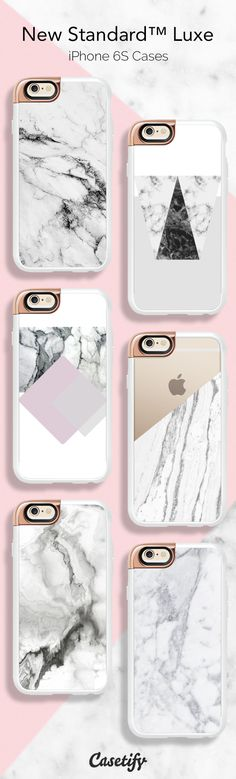 Introducing New StandardTM Luxe for your iPhone 6S Case, added rose gold detail to elevate your style with our all time favourite marble designs. Shop these cases here >>> https://www.casetify.com/collections/iphone-6s-rose-gold-cases-new-standard-luxe | @casetify
