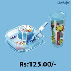HUNGRY KYA! EASY LUNCH CONTAINER SET. SET Shop for HAPPY TIME COMBO JUNIOR LUNCH CONTAINER SET Online at Grahakji.com #Lunchbox #tiffinbox #containerset #online #shopping #kitchen #accessories #grahakji #CombOffers #Offers #Discount