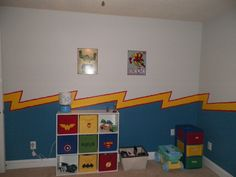 C's super hero room!