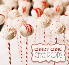 How cute are these candy cane cake pops?
