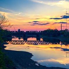 Scioto Sunset. Columbus, OH. 2015 #sunset #columbus #ohio   www.andyspessard.com © 2015 Andy Spessard Photography