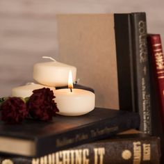 What's on your summer reading list? Round Candles, Floating Candles, Summer Reading Lists, Vintage Books, Decor, Instagram, Old Books, Decoration, Decorating