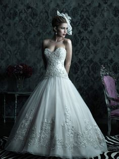 This is a gorgeous gown by Allure Couture. It is so elegant and classic. Allure Couture C222