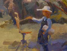 Marilyn Webberley,   painting in the park