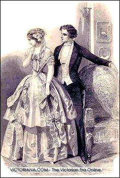 Victorian Era - look at his waist, then look at hers. Distortions due to idealized concepts of beauty happened before the media.