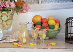 LEMONADE with GRAPEFRUIT   Hand Blown Glass by OneSixthSense
