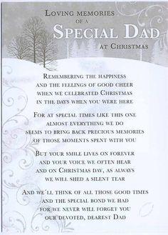 Grave Card / Christmas - Special Dad - FREE Holder-CM18 | eBay