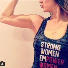 Strong Women Empower Women tank at www.ChaseInfinite.com/women