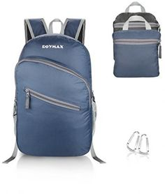ROYMAX Packable Hiking Backpack Foldable Daypack Lightweight Travel Bag, Navy…