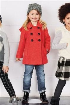Buy Red Bouclé Coat (3mths-6yrs) from the Next UK online shop
