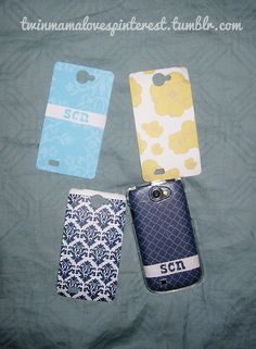 Clear cell phone cover + Silhouette SD machine + pretty paper = custom cell phone cover!