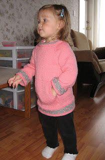 Free+Knitting+Pattern+-+Toddler+&+Children's+Clothes:+Hip+Pink+Pocket+Jacket