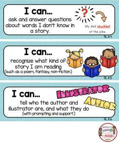 Kindergarten Standards - I Can Statements - Freebies Kindergarten Goals, Kindergarten Lesson Plans, Kindergarten Worksheets, Kindergarten Classroom, Classroom Decor, Classroom Objectives, Kindergarten Posters, Homeschool Worksheets, Learning Targets