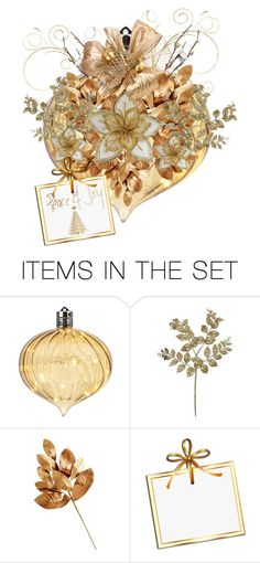 """""""Ornament"""" by terry-tlc ❤ liked on Polyvore featuring art, Winter, Christmas, holidays, artset and polyvoreeditorial"""