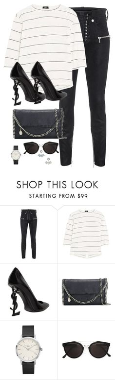 """""""Untitled #3112"""" by theaverageauburn ❤ liked on Polyvore featuring Unravel, Bassike, Yves Saint Laurent, STELLA McCARTNEY, Topshop, RetroSuperFuture and Aéropostale"""